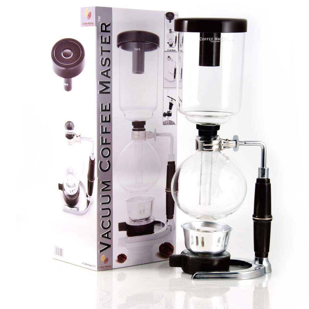 Vacuum Coffee Maker Single Cup : Coffee Master 5-Cup Syphon Vacuum Glass Coffee Maker